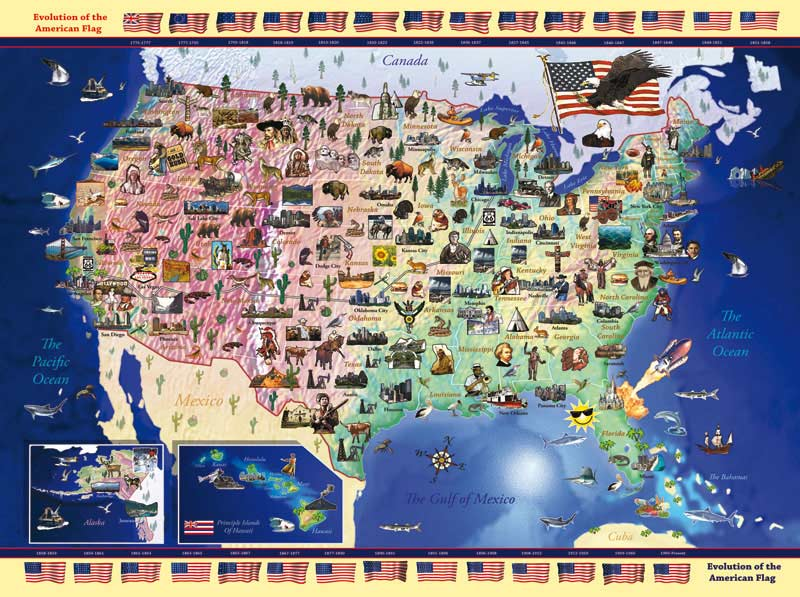 USA Map Childrens Puzzles PuzzleWarehousecom - Canada map puzzles