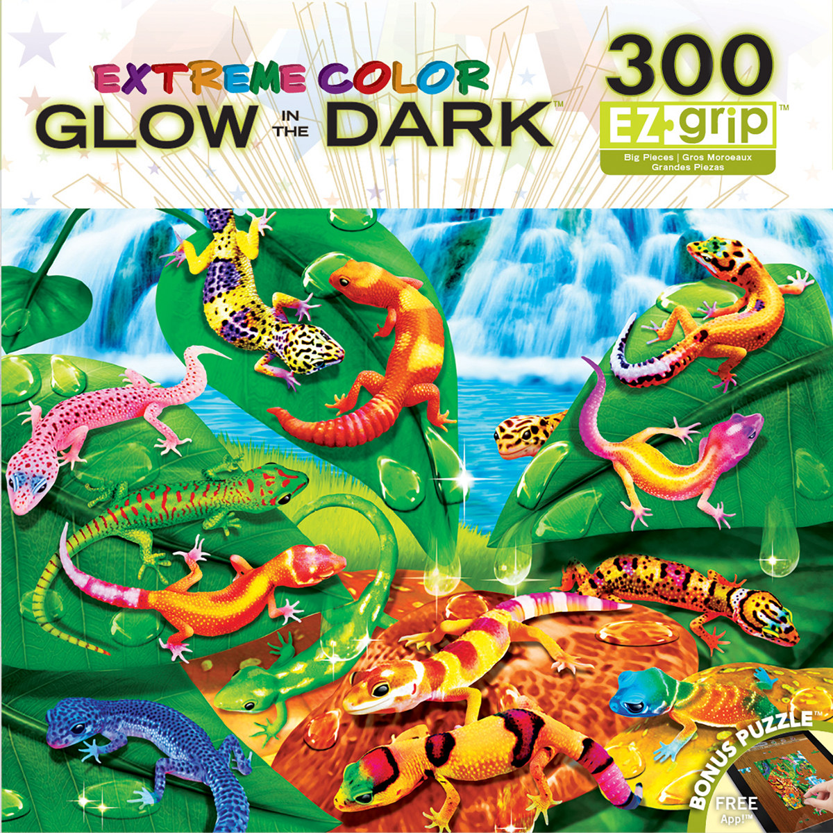 Geckos Galore (Extreme Color) - Scratch and Dent Reptiles / Amphibians Glow in the Dark Puzzle