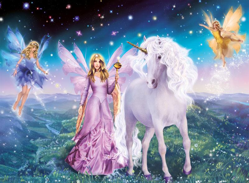 Magical Unicorn Fairies Jigsaw Puzzle