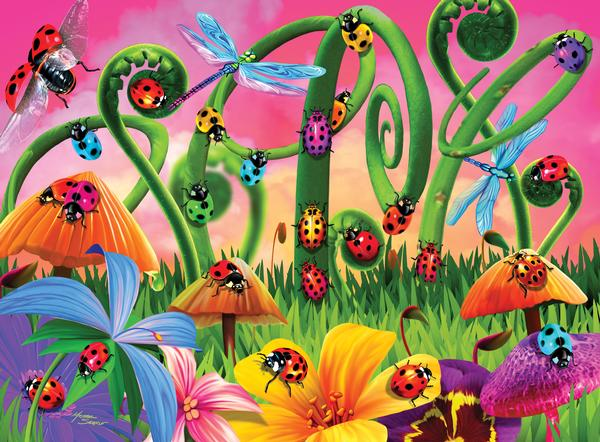 Lady Bug Land Butterflies and Insects Children's Puzzles