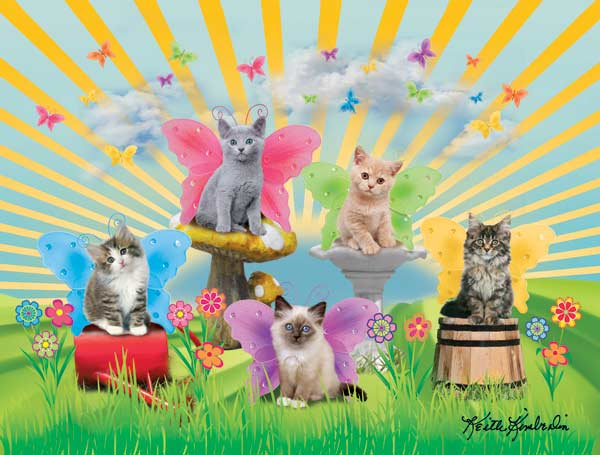 Garden Kitties Cats Jigsaw Puzzle