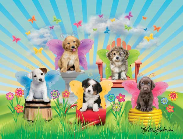 Garden Doggies Dogs Jigsaw Puzzle