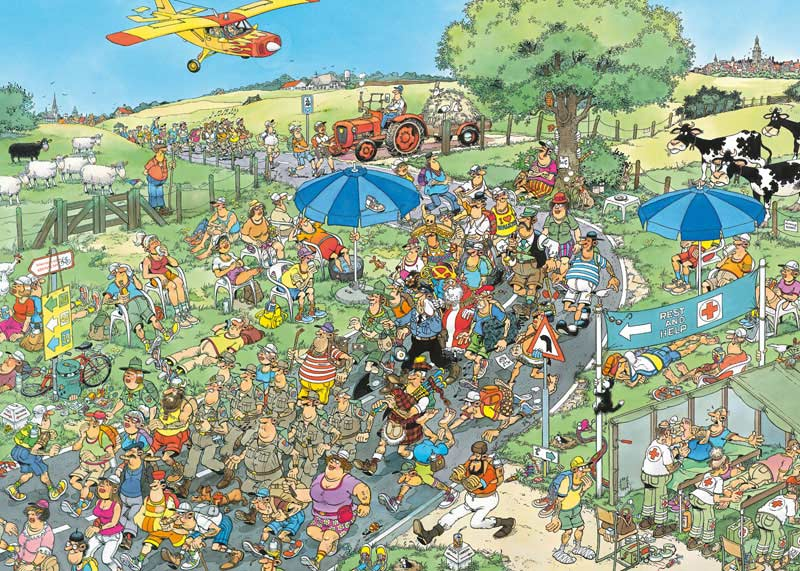 The March - 1000 Cartoons Jigsaw Puzzle