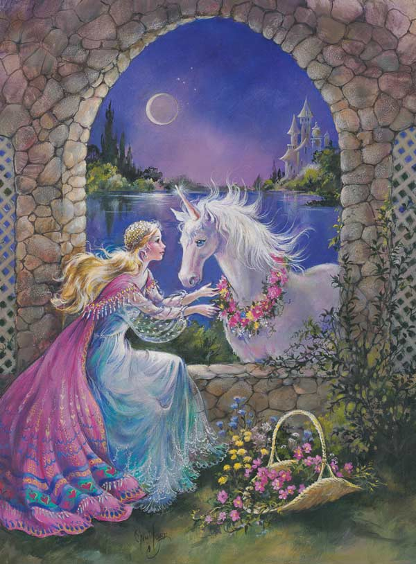 Unicorn Window Princess Jigsaw Puzzle