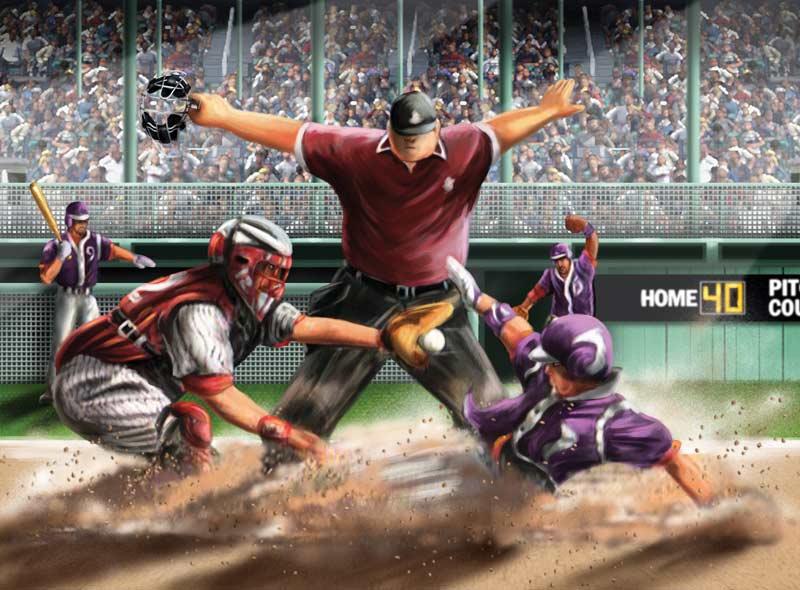 Safe at Home Baseball Jigsaw Puzzle