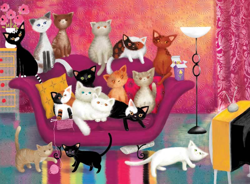 Kitty Couch Cats Jigsaw Puzzle