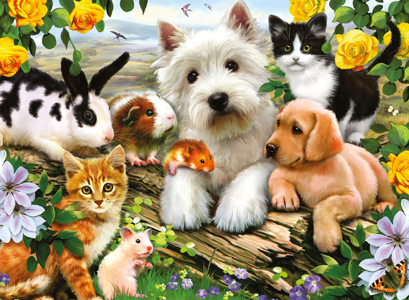 Happy Animal Buddies Animals Jigsaw Puzzle