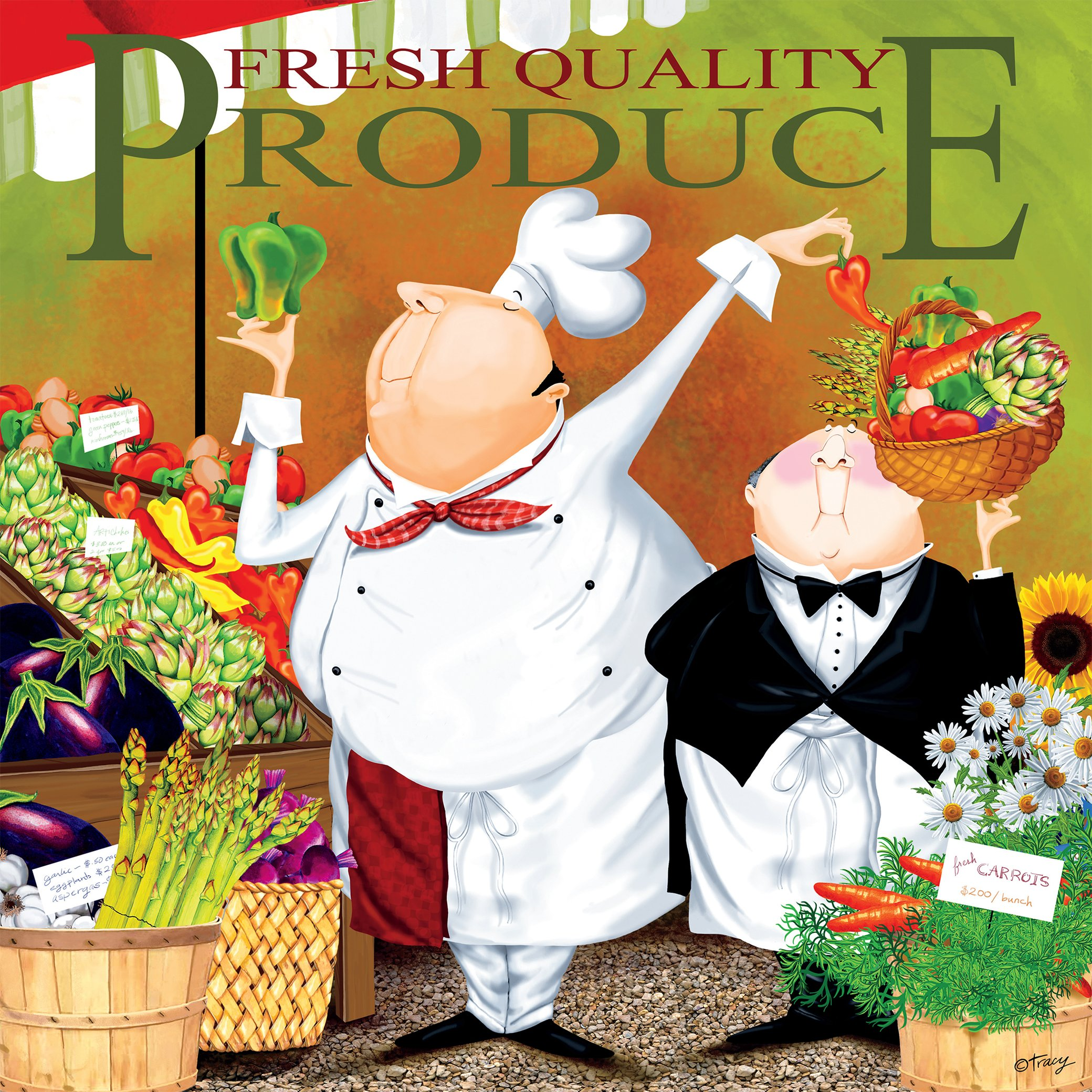 Produce Cartoons Jigsaw Puzzle