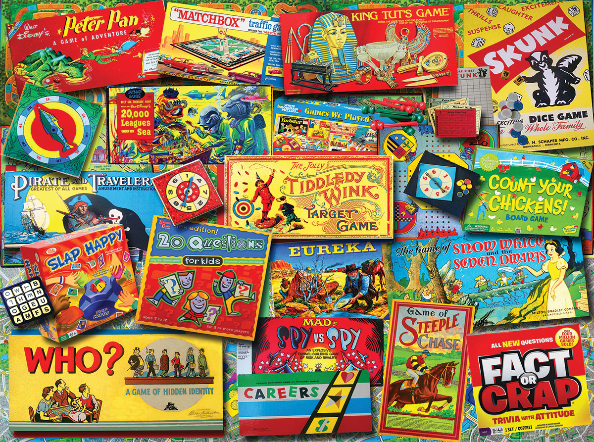 Family Game Night Nostalgic / Retro Jigsaw Puzzle