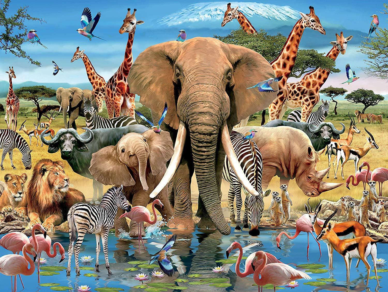 Africana Animals Jigsaw Puzzle