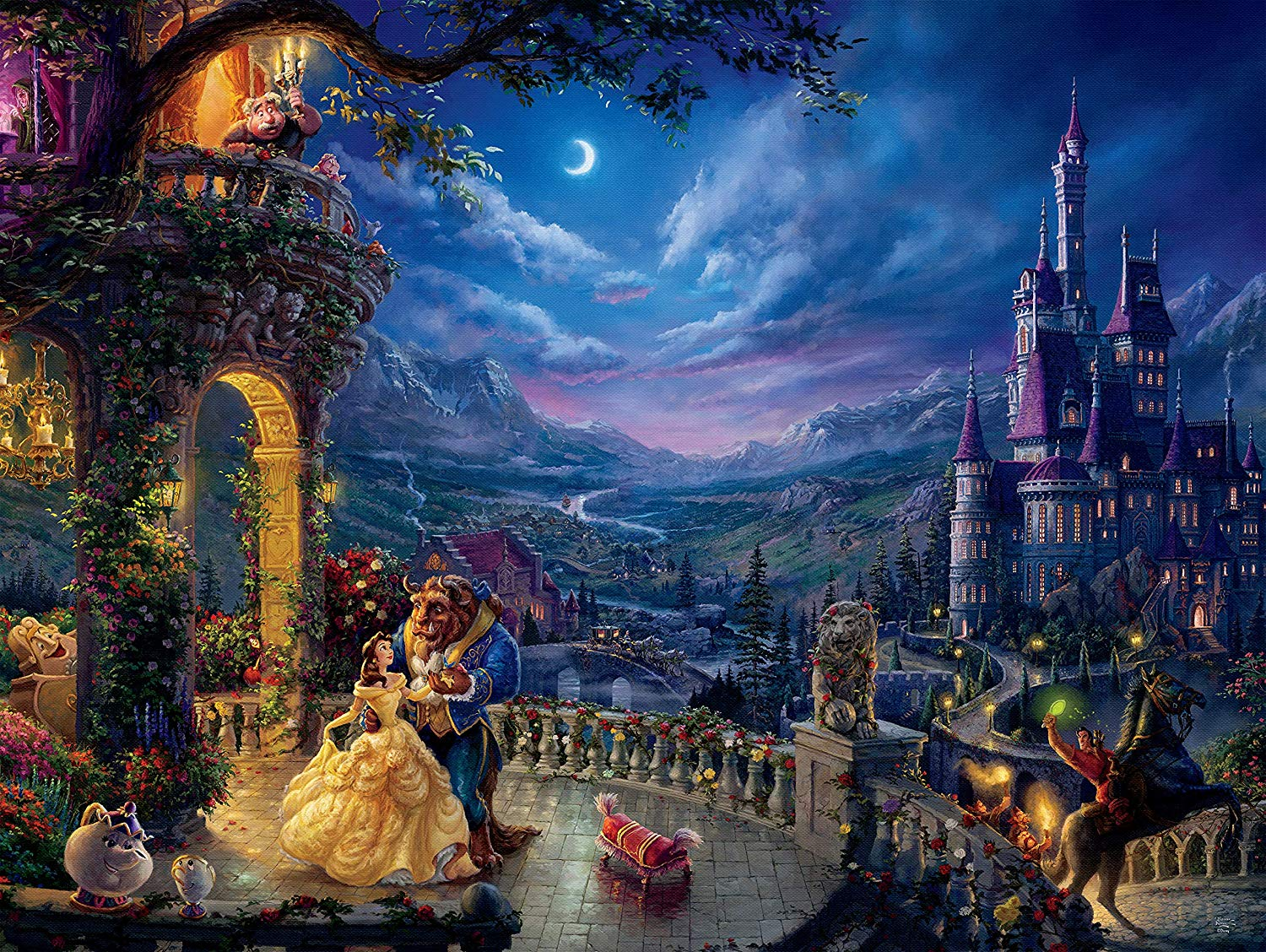 Beauty and the Beast Dancing in the Moonlight Disney Jigsaw Puzzle