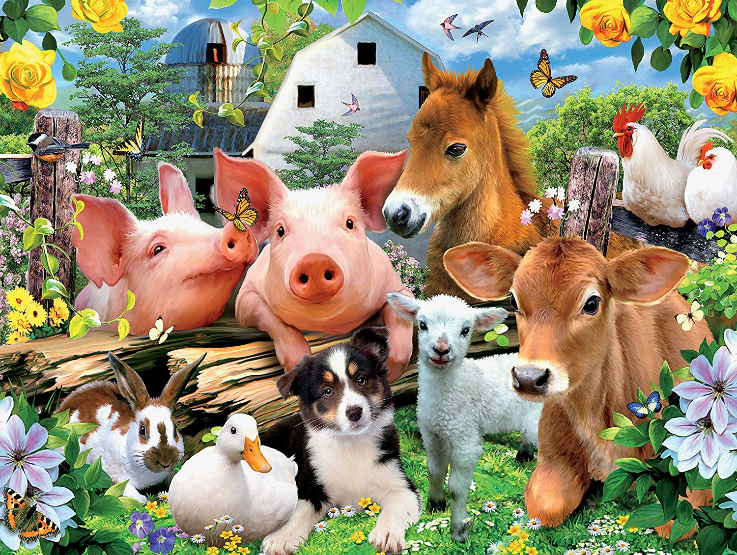 Farm Friends Farm Jigsaw Puzzle