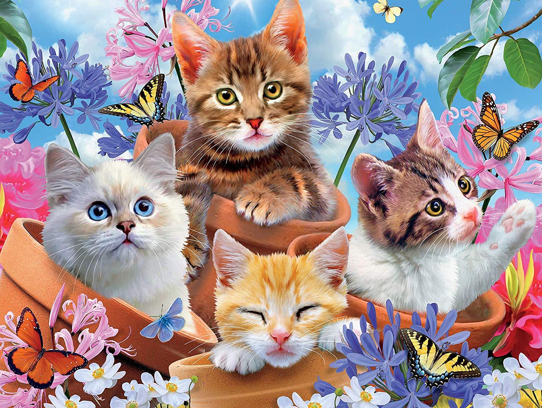 Garden Wonders Cats Jigsaw Puzzle
