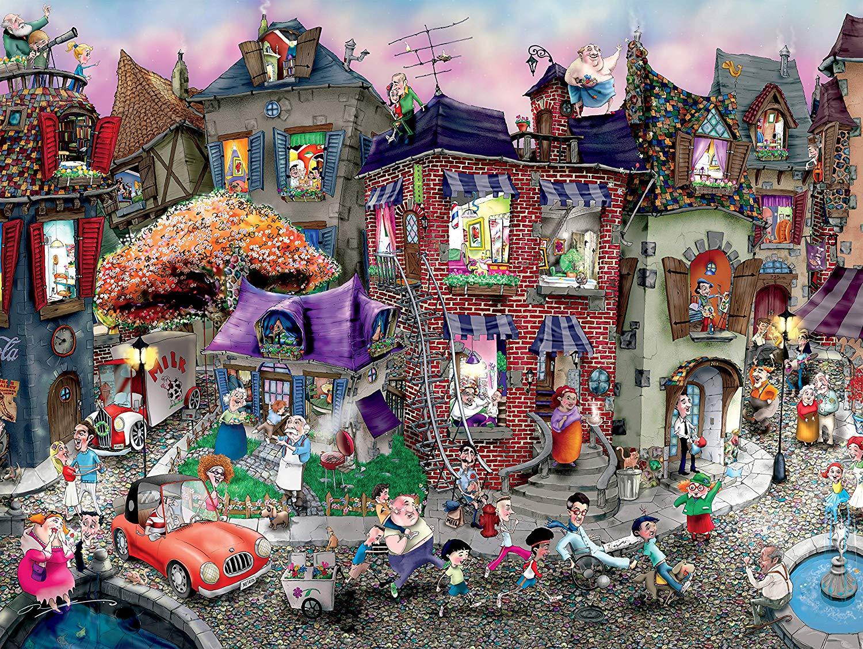 Night Celebration by Mark Ludy Street Scene Jigsaw Puzzle