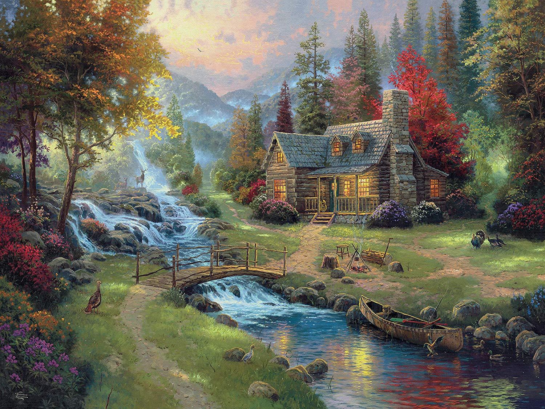 Mountain Paradise Landscape Jigsaw Puzzle