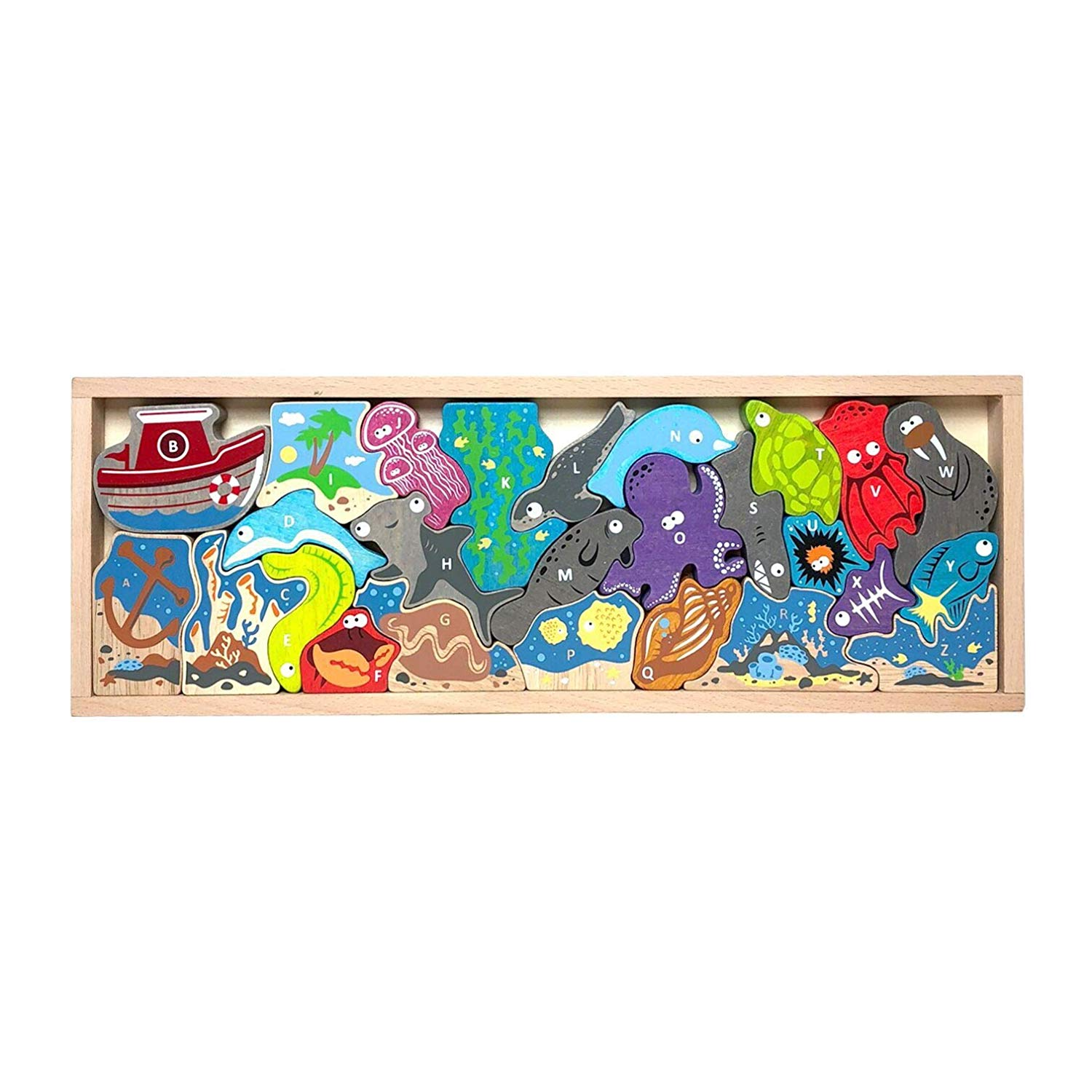 Ocean A to Z Puzzle Under The Sea Jigsaw Puzzle
