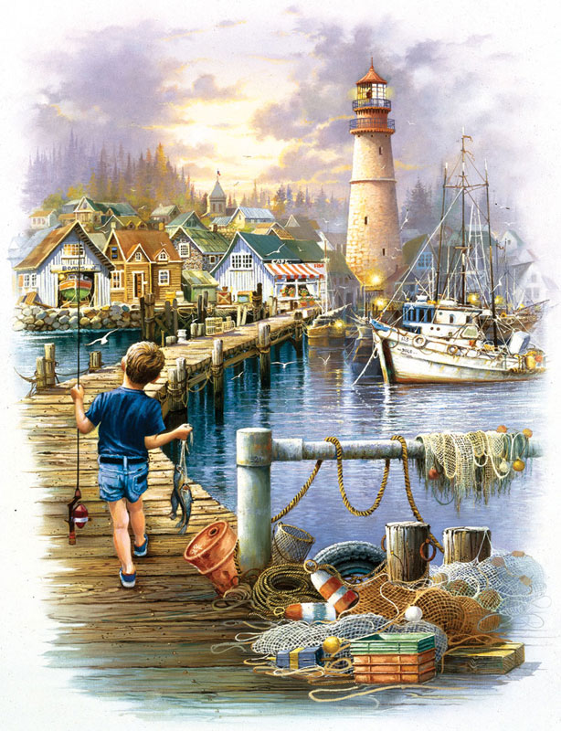 Big Catch Lighthouses Jigsaw Puzzle