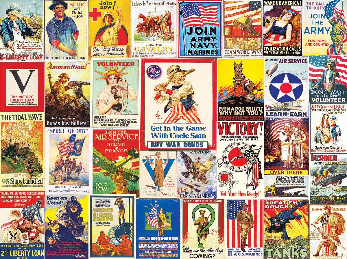 World War I Posters Nostalgic / Retro Jigsaw Puzzle