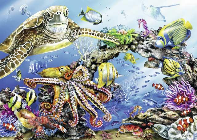 Turtle & Friends Marine Life Jigsaw Puzzle