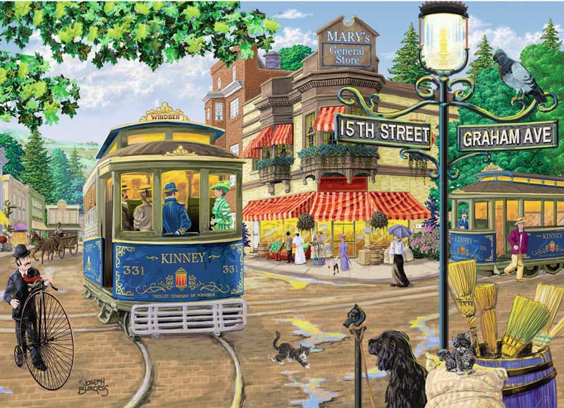 Mary's General Store - Scratch and Dent Street Scene Jigsaw Puzzle