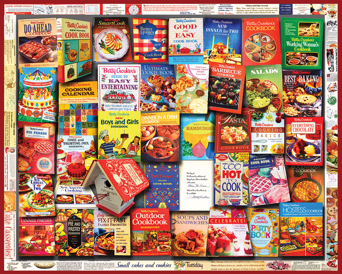 Cookbooks (General Mills) Nostalgic / Retro Jigsaw Puzzle