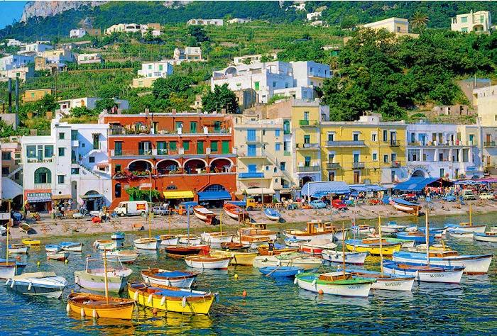 Campain Capri, Italy Boats Jigsaw Puzzle