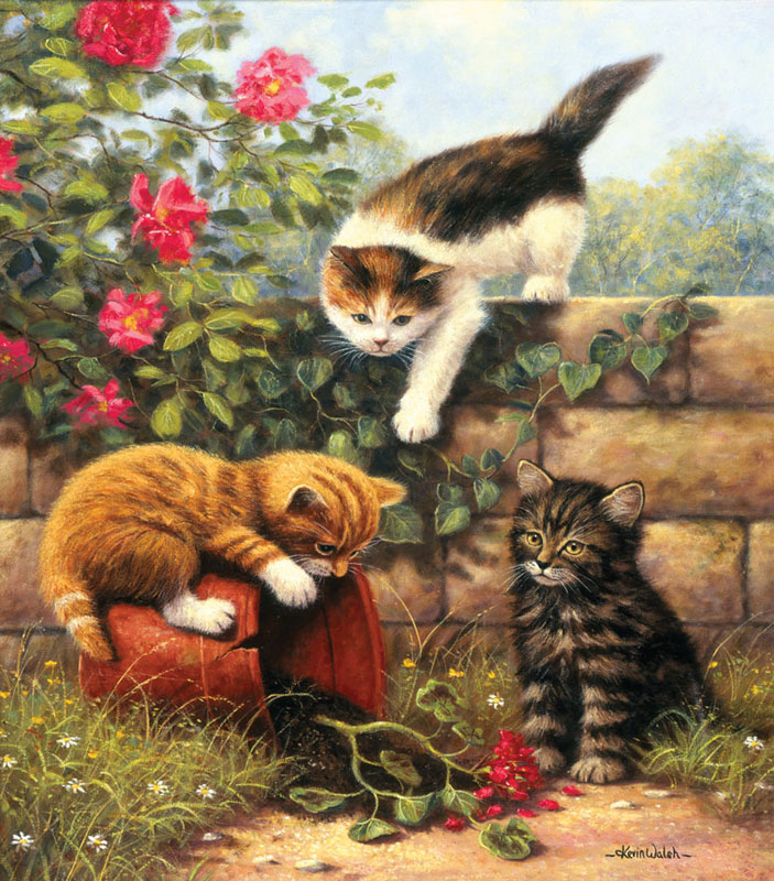 Re-Potting Cats Jigsaw Puzzle