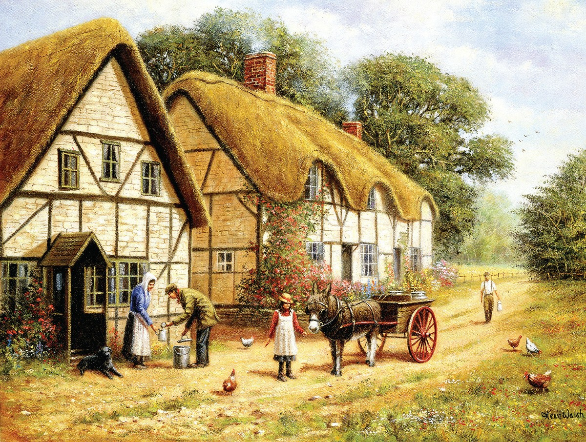 Delivering the Milk - Scratch and Dent Countryside Jigsaw Puzzle