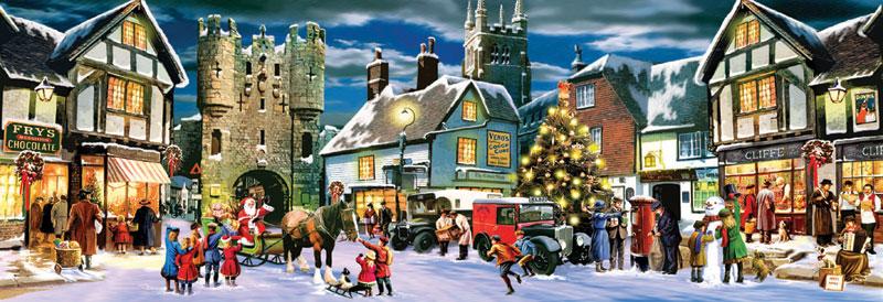 Christmas Panorama Christmas Jigsaw Puzzle