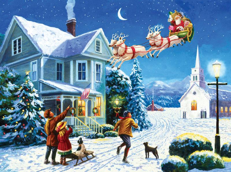 Santa's Here Christmas Jigsaw Puzzle