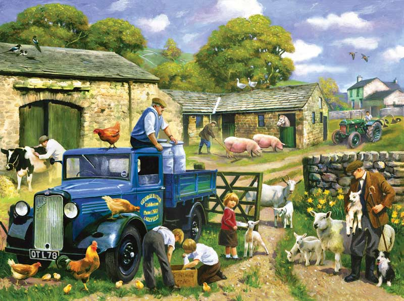 English Spring Farm Jigsaw Puzzle