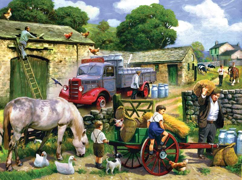 English Summer Farm Jigsaw Puzzle