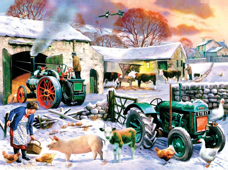 English Winter Farm Jigsaw Puzzle