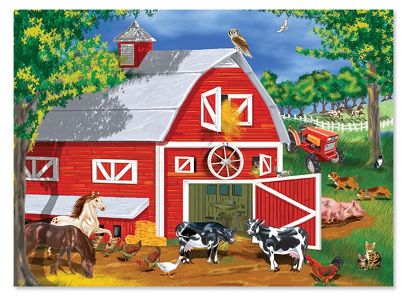 Barnyard Farm Jigsaw Puzzle