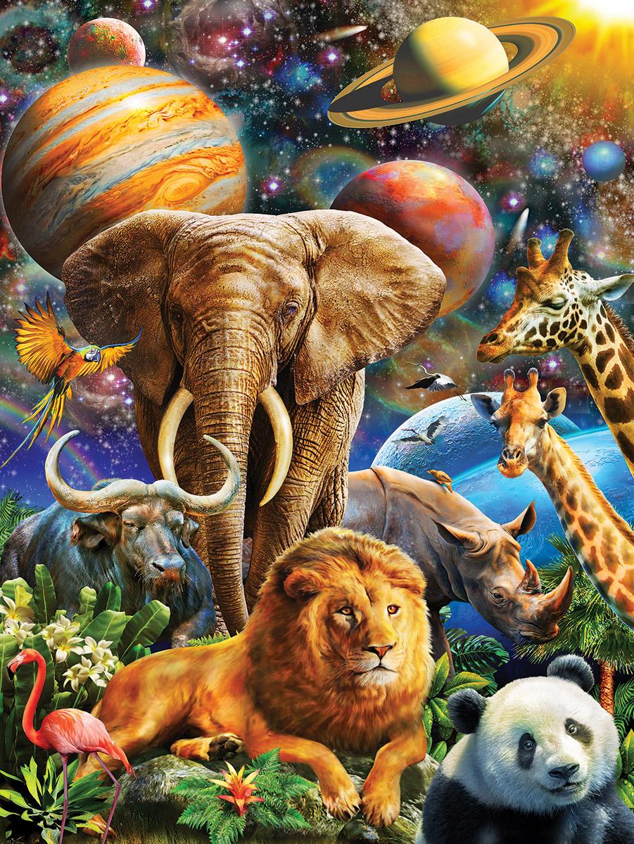Universal Beauty Jungle Animals Jigsaw Puzzle