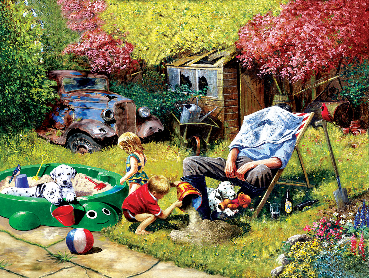 A Day with Grandpa Dogs Jigsaw Puzzle