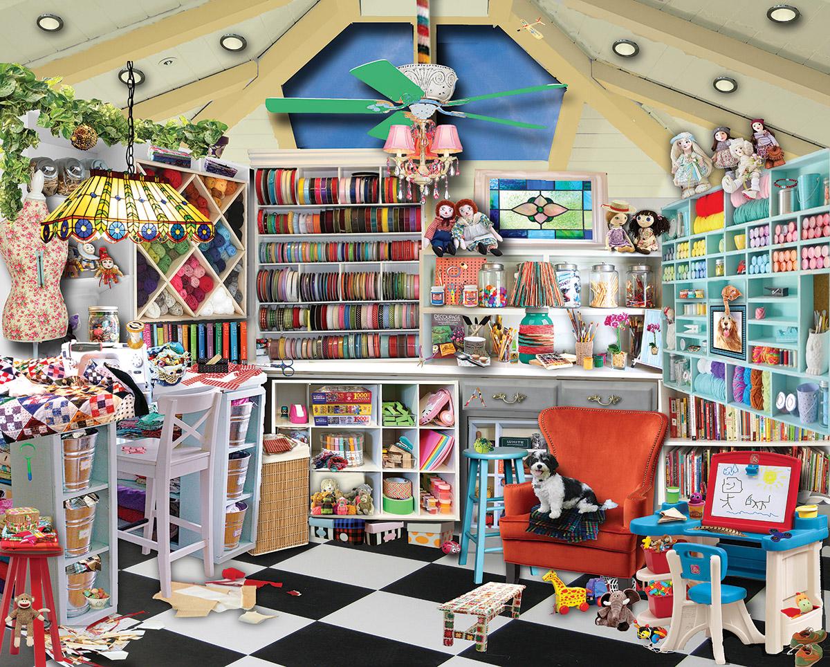 Craft Room Seek & Find Crafts & Textile Arts Hidden Images