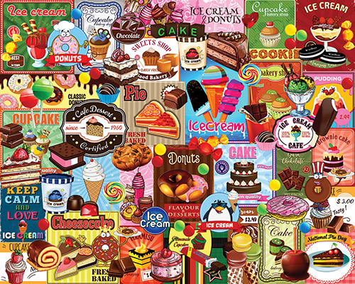 Sweet Treats Nostalgic / Retro Jigsaw Puzzle