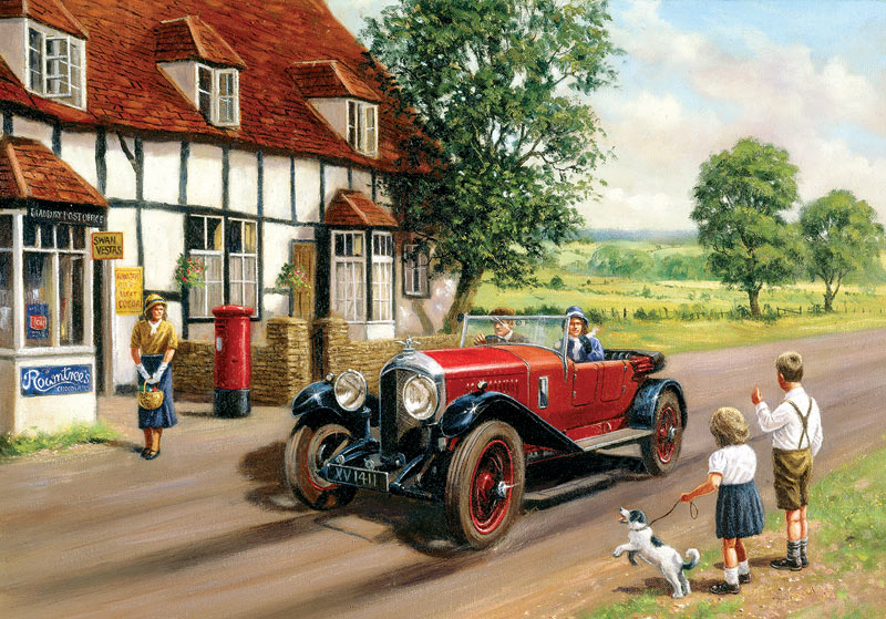 Out in the Country Cars Jigsaw Puzzle