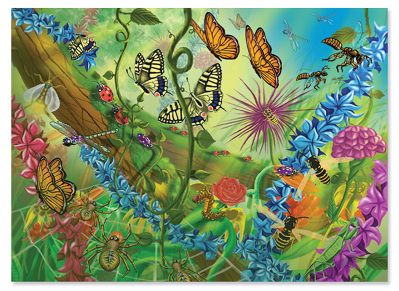World of Bugs Butterflies and Insects Children's Puzzles