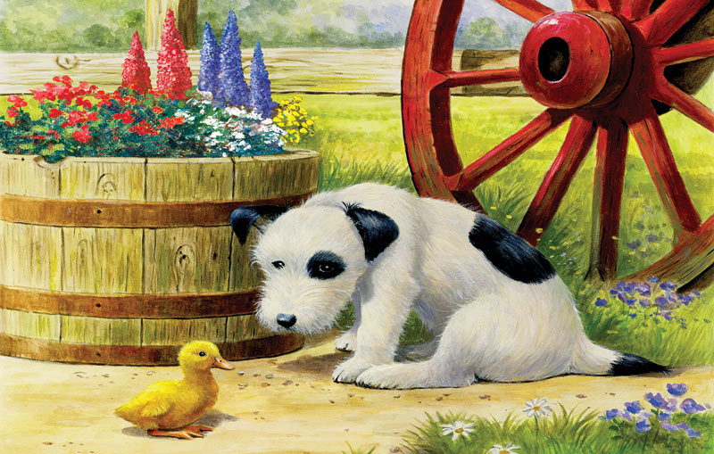 Pup and Friend Dogs Jigsaw Puzzle