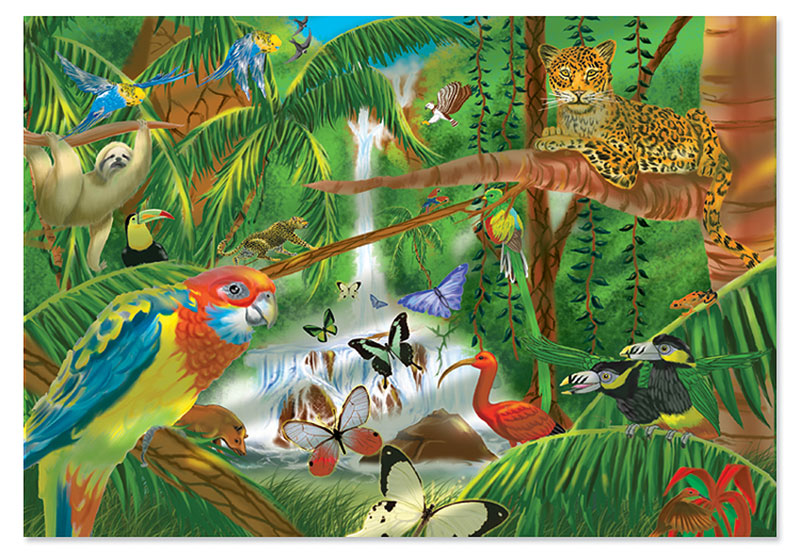 Rain Forest Jungle Animals Children's Puzzles