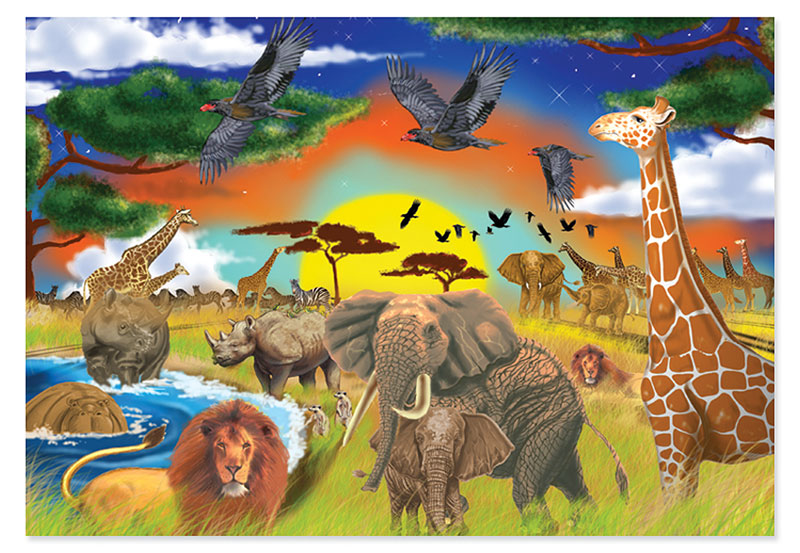 Safari Adventure Other Animals Children's Puzzles