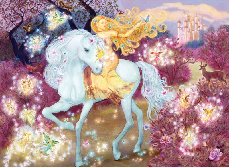 Riding in the Woods Princess Glitter / Shimmer / Foil Puzzles
