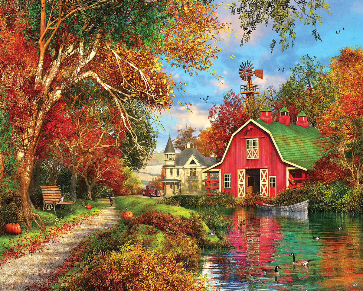 Autumn Barn Countryside Jigsaw Puzzle