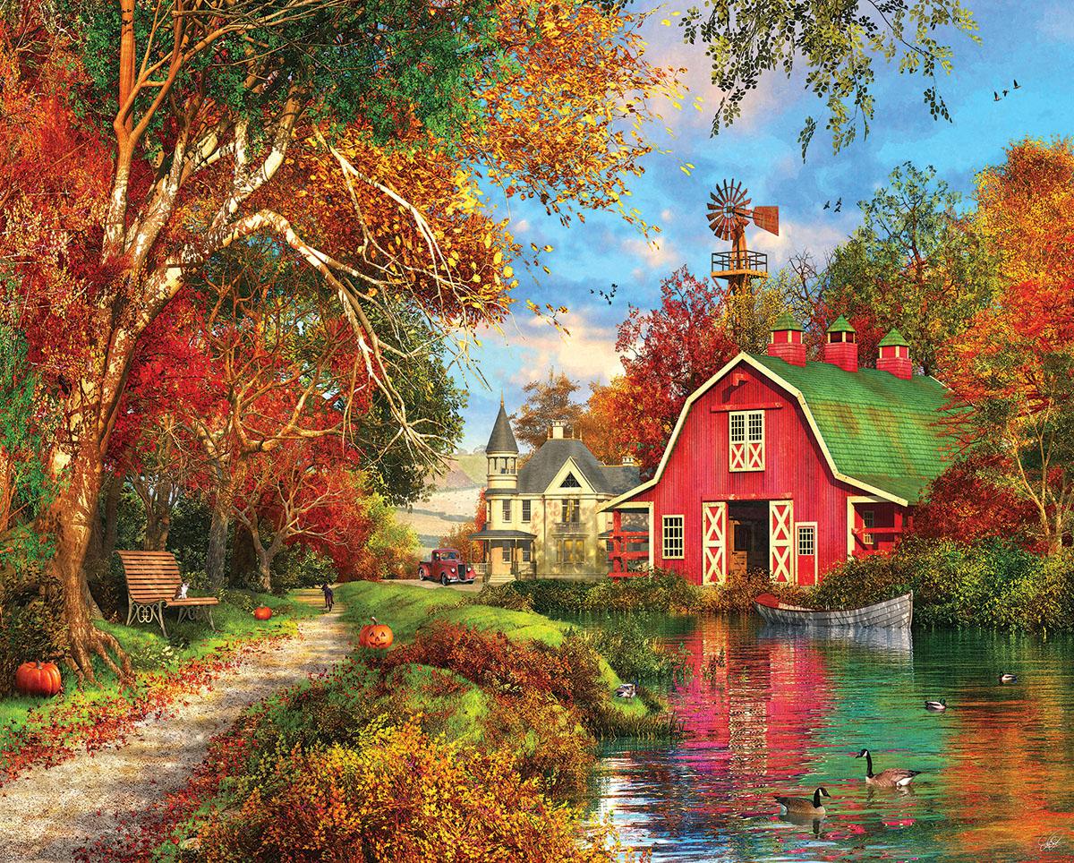 Autumn Barn Countryside Jigsaw Puzzle
