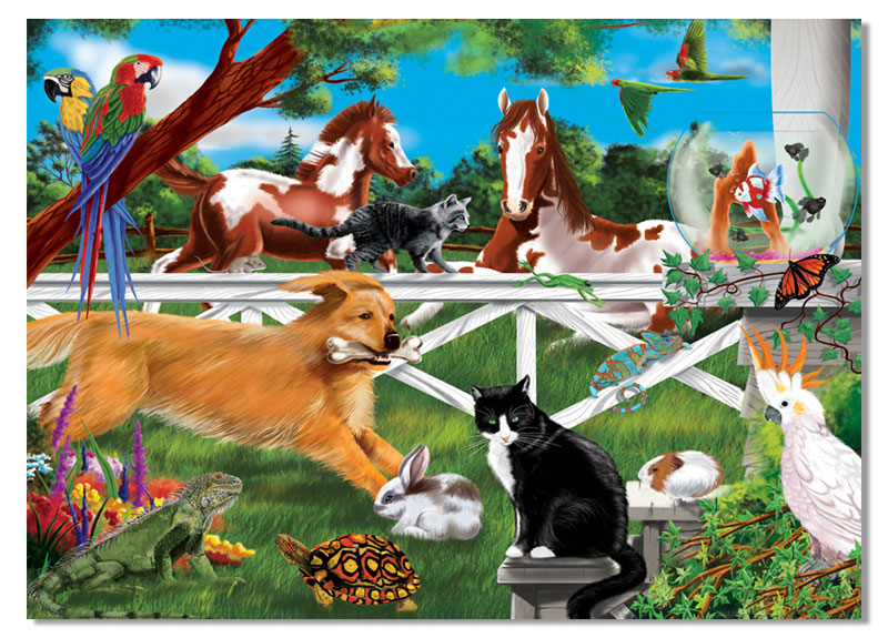 Playful Pets Other Animals Jigsaw Puzzle