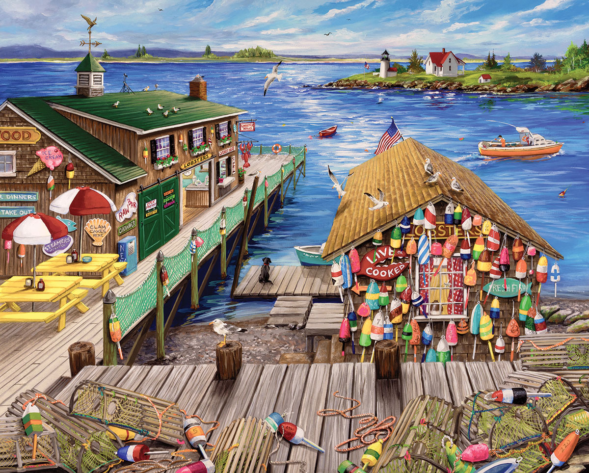Lobster Pound Seascape / Coastal Living Jigsaw Puzzle