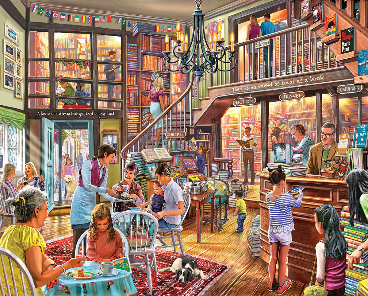 Local Bookstore Jigsaw Puzzle Puzzlewarehouse Com