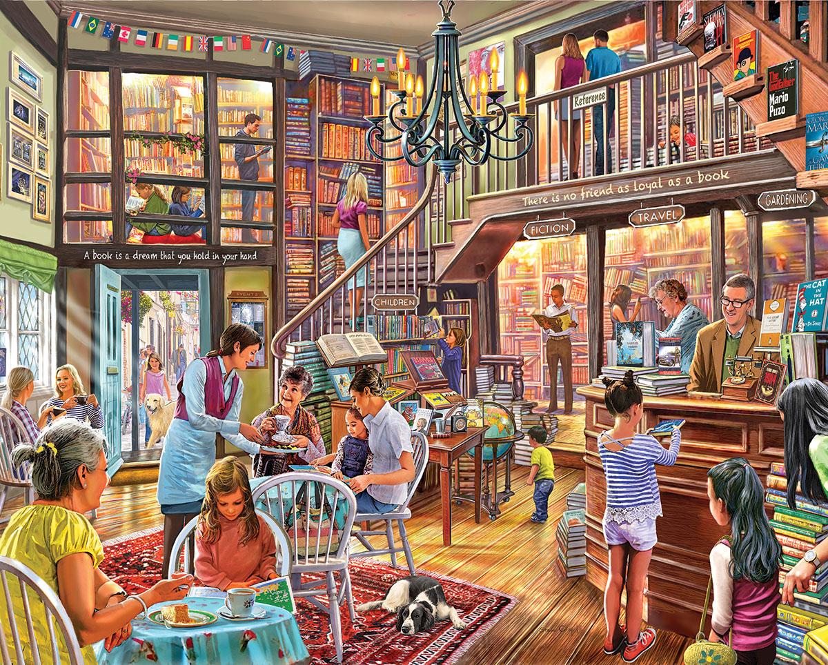 Local Bookstore Nostalgic / Retro Jigsaw Puzzle